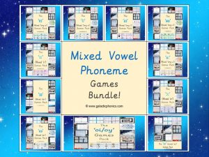 Mixed Vowel Phoneme Games Bundle