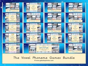 The Vowel Phoneme Games Bundle
