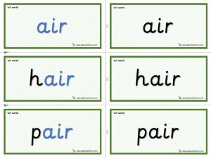 air word cards