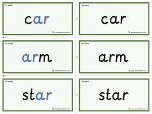 ar word cards