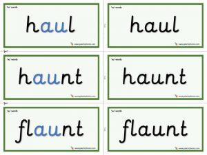au word cards