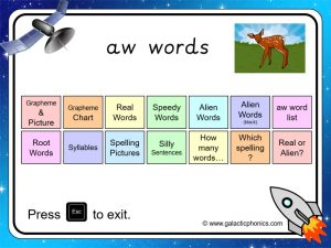aw phonics powerpoint