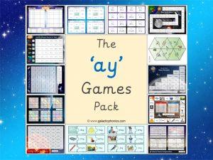 ay phonics games pack