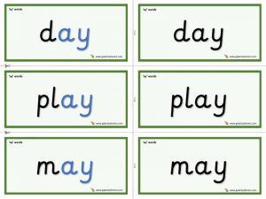ay word cards
