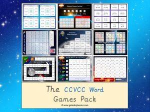 ccvcc phonics games pack