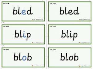 CCVC Word Cards
