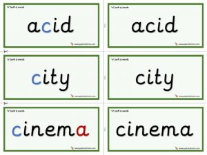 ci word cards