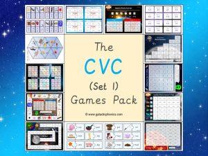 cvc phonics games pack