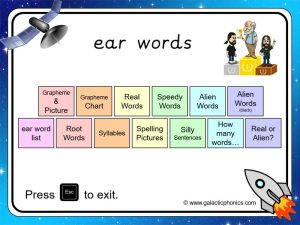 ear phonics powerpoint