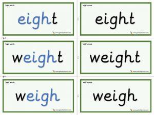 eigh word cards