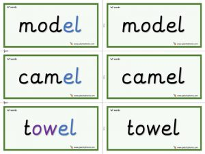 el word cards