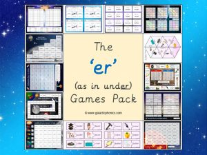 er (short) phonics games pack
