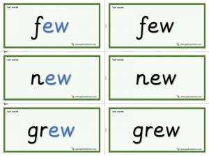 ew word cards