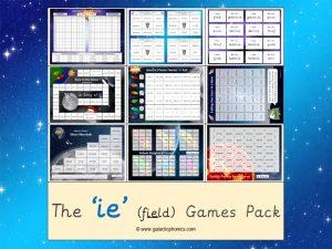 ie (long e) phonics games pack