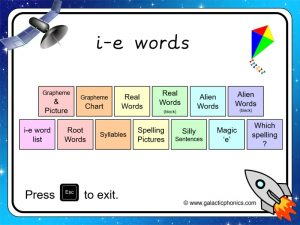 i-e (split digraph) phonics powerpoint