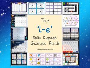 i-e (split digraph) phonics games pack