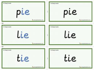 ie (long i) word cards