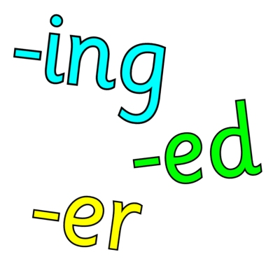 -ing -ed -er suffix worksheets and resources