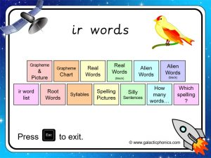 ir phonics powerpoint