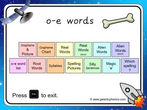 o-e (split digraph) phonics powerpoint