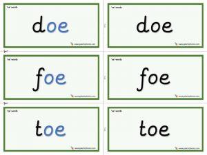 oe word cards