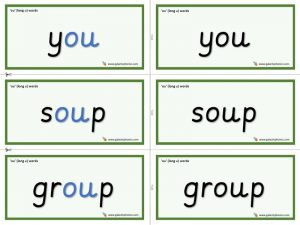 ou (long u) word cards