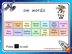 ow phonics powerpoint