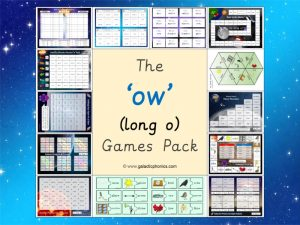 ow (long o) phonics games pack