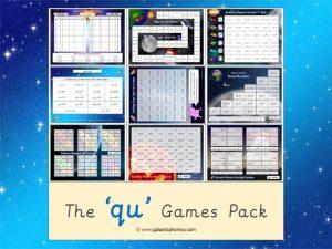 qu phonics games pack