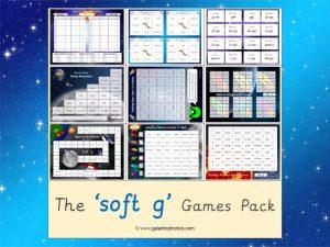soft g phonics games pack