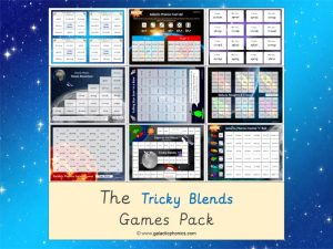 tricky blends phonics games pack