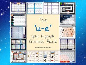 u-e (split digraph) phonics games pack