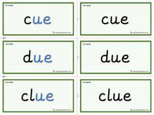 ue word cards