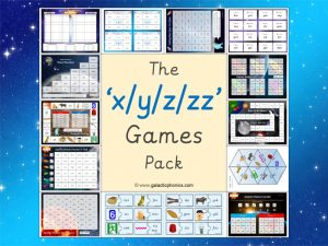 x y z zz phonics games pack