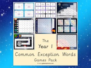year 1 common exception words (CEW) games pack