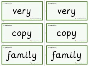 y (long e) word cards (simple)