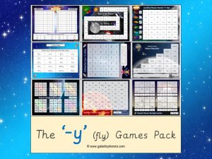 y (long i) phonics games pack