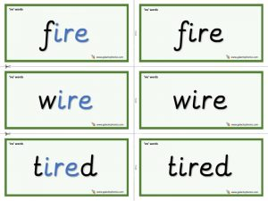 ire word cards