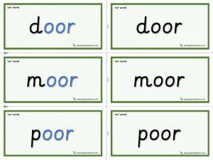 oor word cards