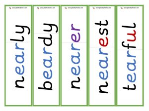 ear root word cards (other)