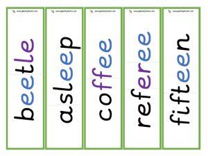 multisyllabic ee word cards