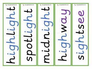 multisyllabic igh word cards