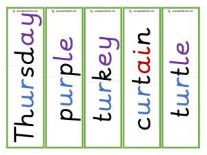 multisyllabic ur word cards