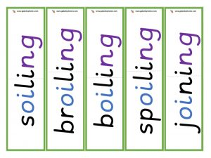 oi root word cards (ing)
