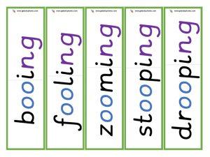 oo root word cards (ing)