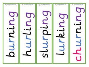 ur root word cards (ing)