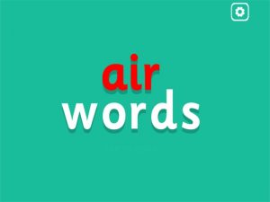 air interactive anagrams game