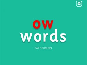ow (long o) interactive phonics game