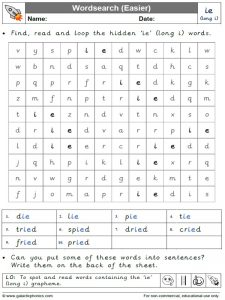ie wordsearch (easier)