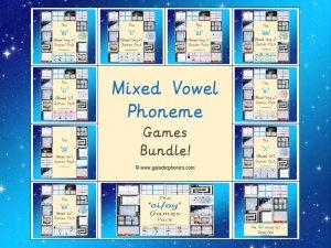 Mixed Vowel Phoneme Games Bundle